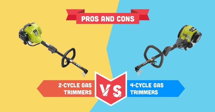 Pro and cons 2 cycle gá trimmers 4 cycle gas trummers