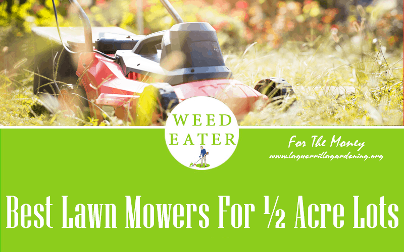 Best Lawn Mowers For ½ Acre Lots Reviews 2021